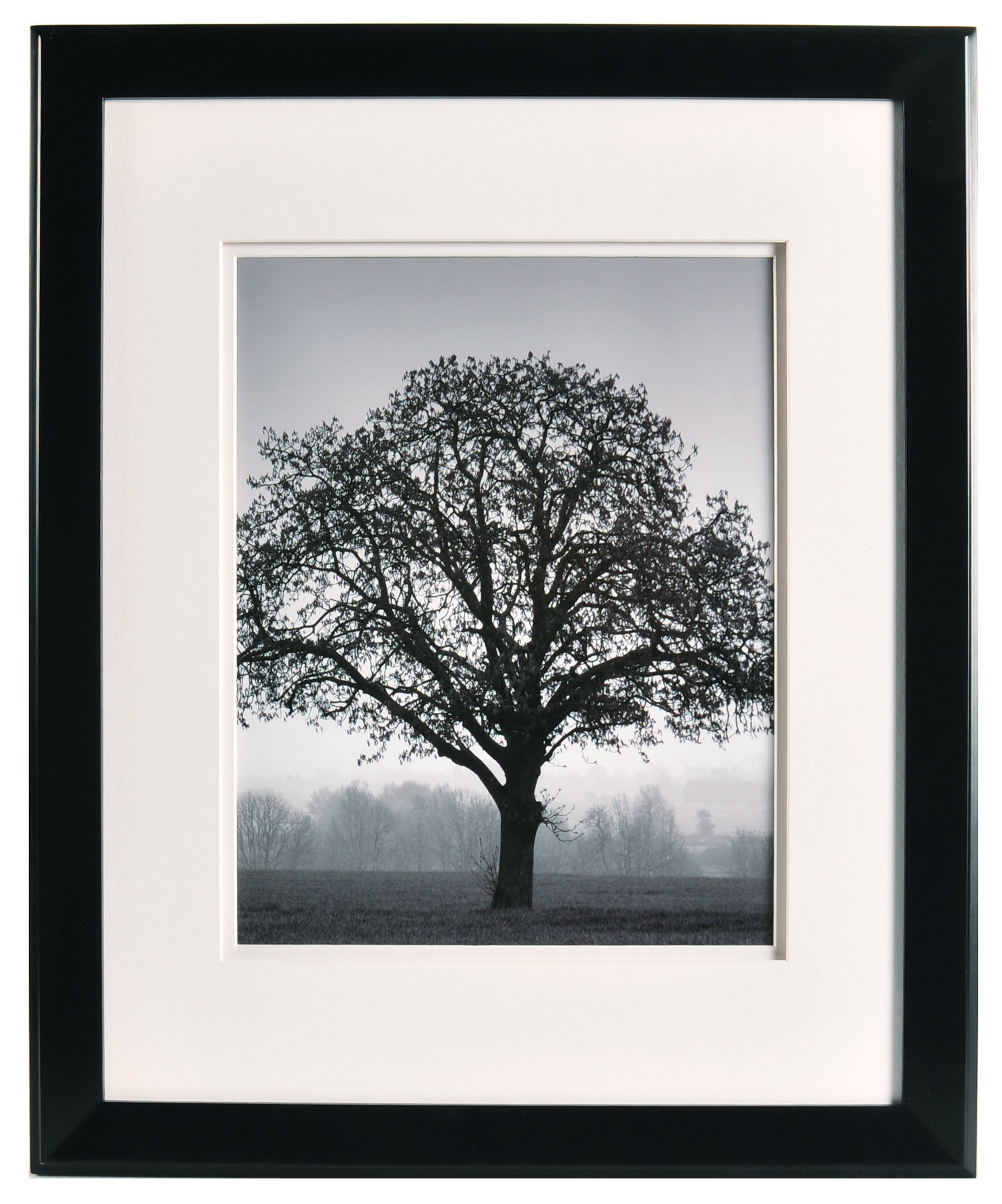 Nielsen Bainbridge Artcare By 16x20 Chelsea Black Museum Quality Archival Frame With Double White Mat For 1x14 Image #RW19CHLMB. Includes: UV Glazed Glass and Anti Aging Liner