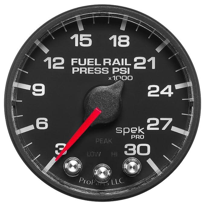 Pro Parts 3-30K PSI, 52.4mm ProParts P321328 Spek-Pro 2-1//16 Electric Fuel Rail Pressure Gauge