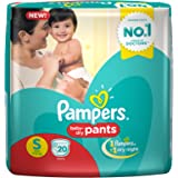 Pampers Small Size Diaper Pants, White (20 Count)