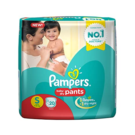 cbc8bfd482 Buy Pampers Small Size Diaper Pants, White (20 Count) Online at Low Prices  in India - Amazon.in