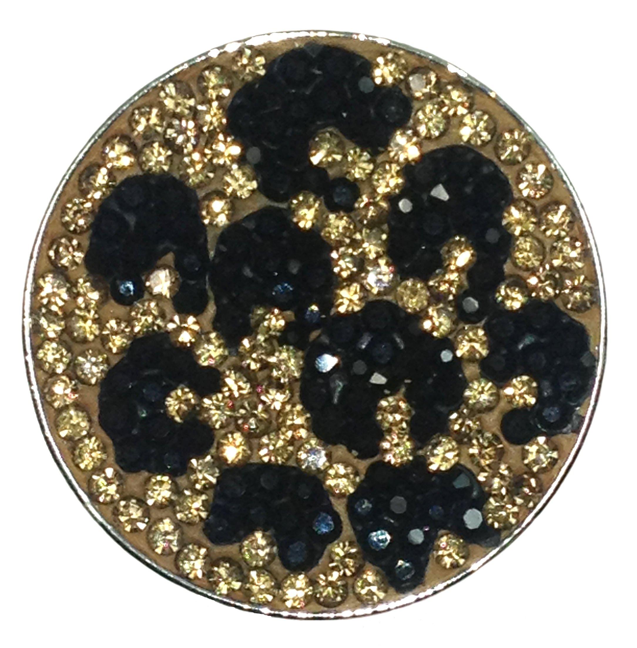 Navika Cheetah-licious Micro Pave Crystal Ball Marker with Hat Clip