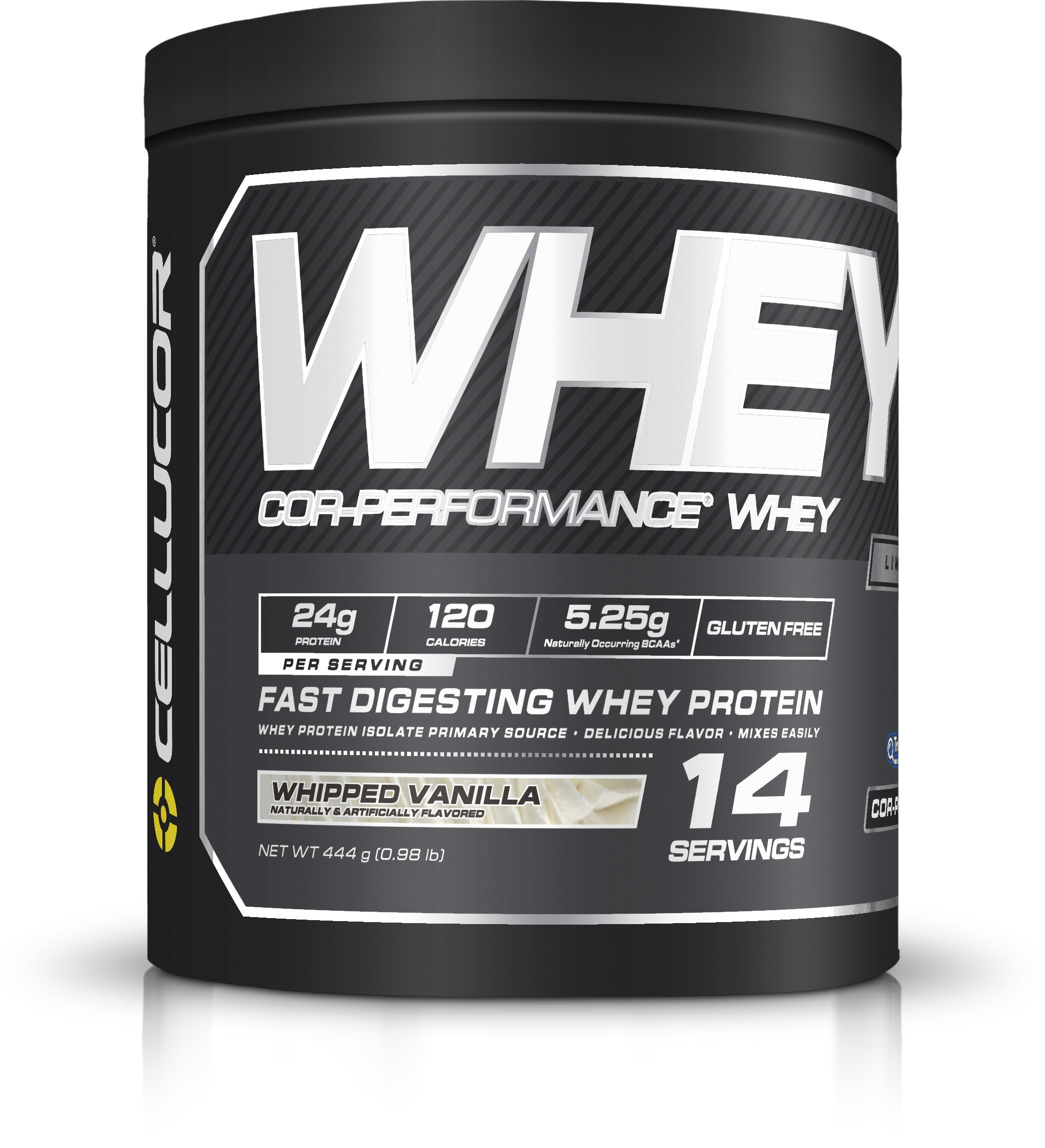 Cellucor COR-Performance Whey Isolate Protein Powder, Post Workout Recovery Drink, Gluten Free Low Carb Low Fat, BCAA, Whipped Vanilla, 14 Servings