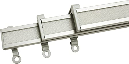 Gardinia Clip On Paneelwagen 3er Set Fur Flachenvorhangschienen Perfectline 60 Cm Aluminium Grau Amazon De Kuche Haushalt