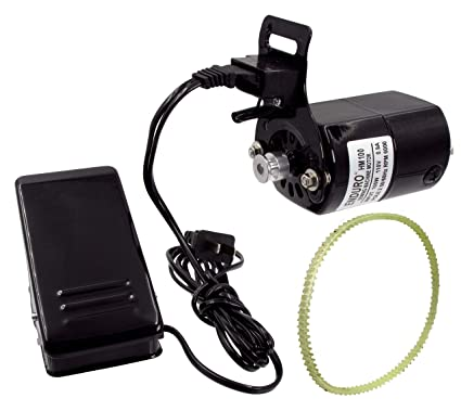 Enduro Sewing Machine Motor Kit w/Foot Pedal & Belt - 110 Volt, 100 Watt  for Home Sewing Machines
