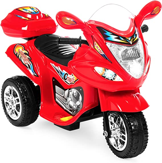 Best Choice Products Kids Ride On Motorcycle 6V Toy Battery Powered Electric 3 Wheel Power Bicyle