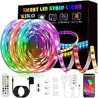 50ft/15M LED Strip Lights, Smart KIKO Led Lights Music Sync Color Changing Rope Lights SMD 5050 RGB Light Strips with…