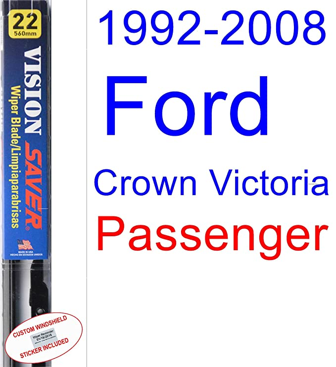Amazon.com: 1992-2008 Ford Crown Victoria Wiper Blade (Driver) (Saver Automotive Products-Vision Saver) (1993,1994,1995,1996,1997,1998,1999,2000,2001,2002 ...