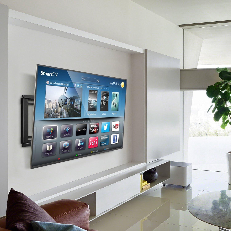SIMBR TV Soporte de pared para la mayoría 26 – 75 cm LED, LCD y Plasma TV, hasta Vesa 600 x 400 mm, 132 kg capacidad de carga: Amazon.es: Electrónica