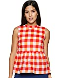 Amazon Brand - Myx Women's Checkered Loose fit Top