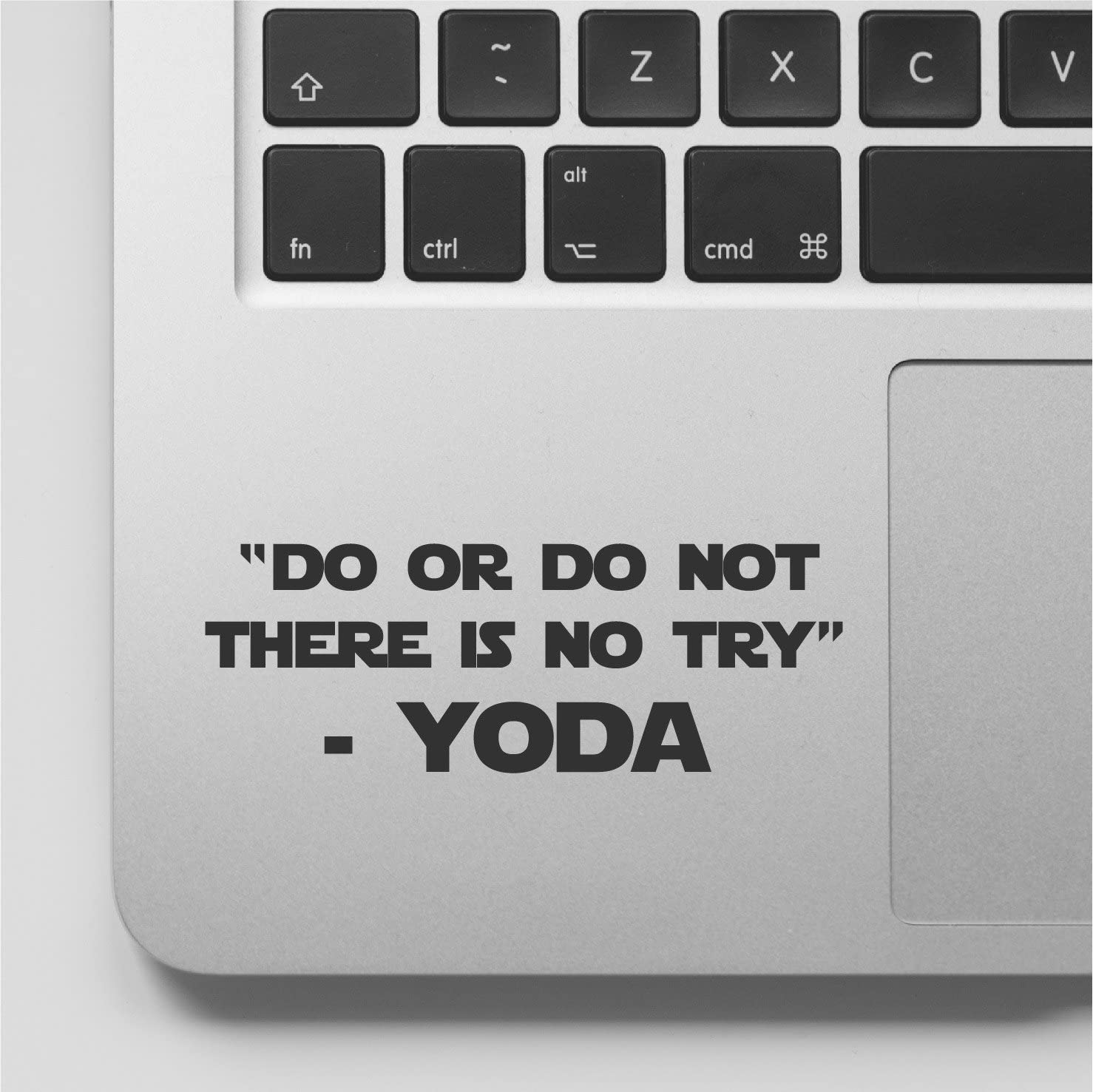 Wicked Decals YODA Quote - Do or Do Not There is no Try Laptop Decal Sticker Compatible with MacBook Retina, MacBook Air, MacBook Pro WD919