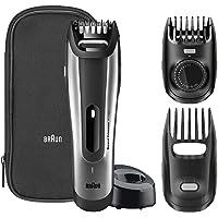 Braun BT5090 – Recortadora de barba con ajuste fino cada 0,5mm y cortapelos de precisión, negro/plata