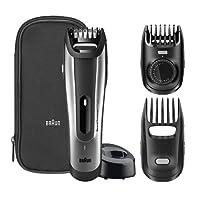 Braun BT5090 – Recortadora de barba con ajuste fino cada 0,5mm y cortapelos de precisión, color negro y plata