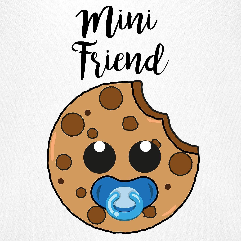 Partner-Look Familie Baby Shirtracer Mini Friend Blau Baby Body Kurzarm f/ür Jungen und M/ädchen