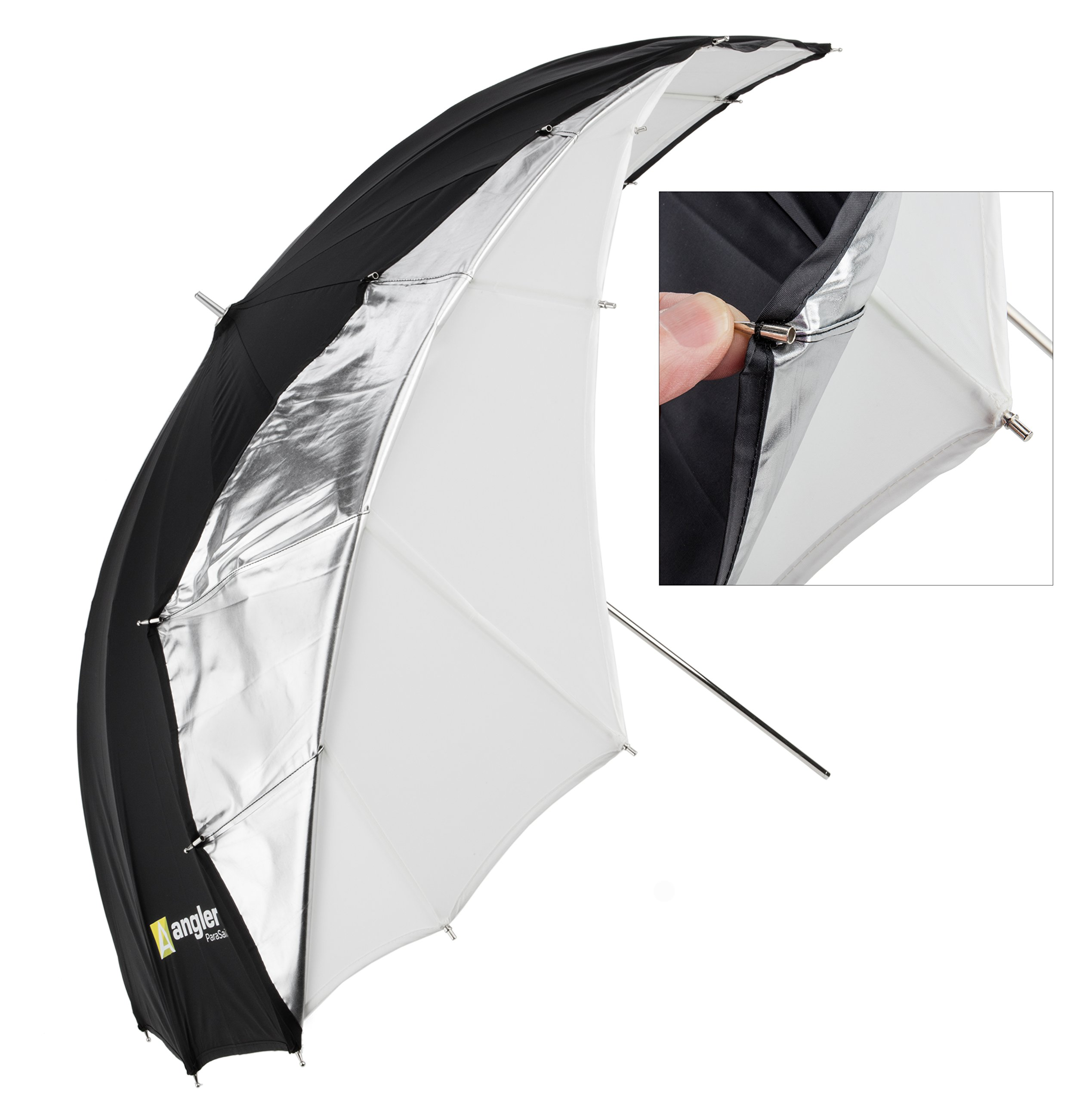 Angler ParaSail Parabolic Umbrella (White with Removable Black/Silver, 45'''')'' by Angler (Image #3)