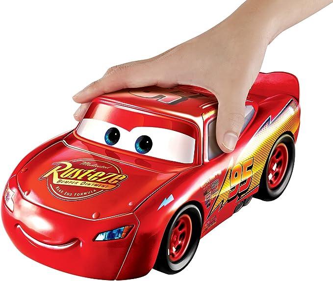 Cars Supertransformación Vehículo Rayo McQueen, coche de juguete (Mattel FCW04)
