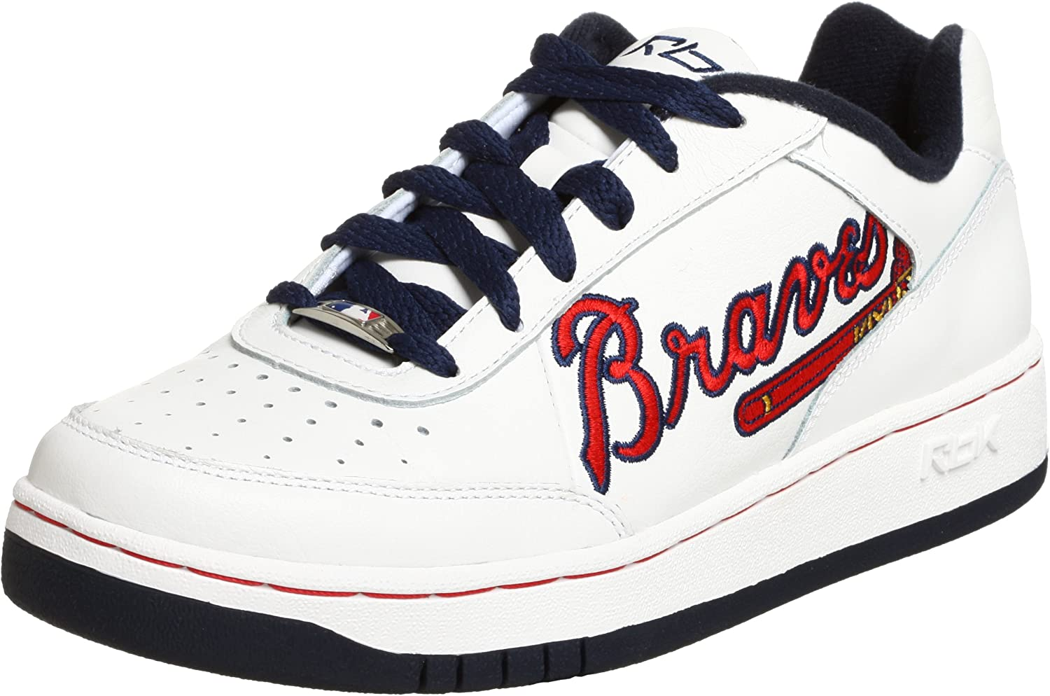 cheapest price professional sale new products Amazon.com: Reebok Men's MLB Braves Clubhouse Oversize Sneaker: Shoes