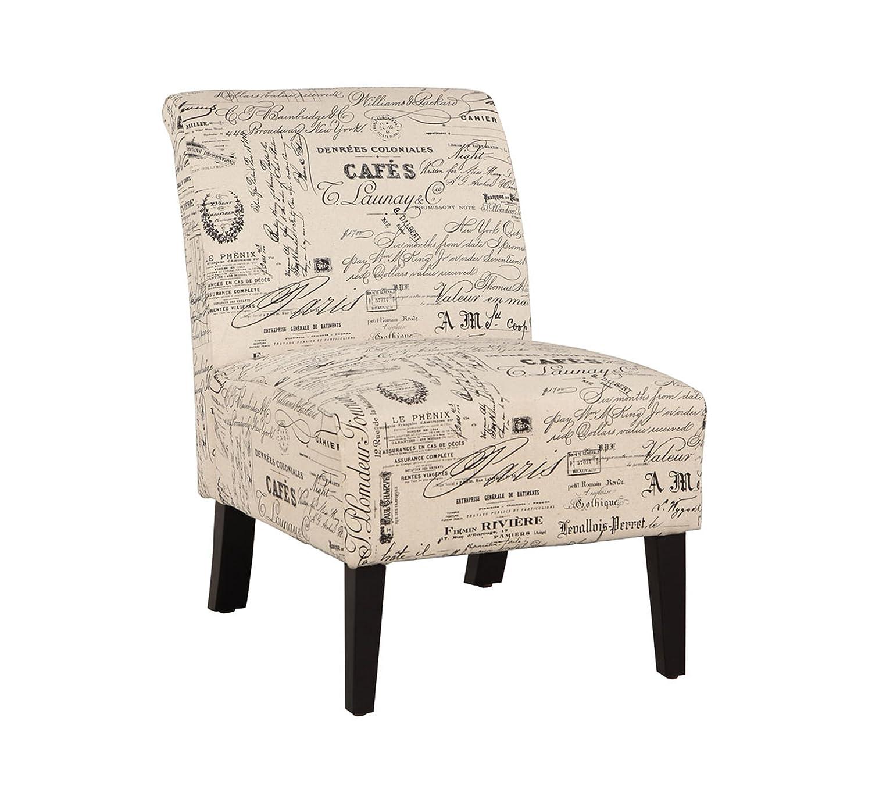 Amazon Linon SCRPT01U Linen Lily Chair Script Kitchen