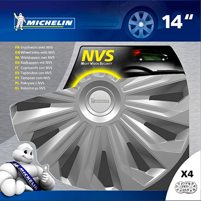 Amazon.com: MICHELIN 009126 Wheel Trims, Grey, 14
