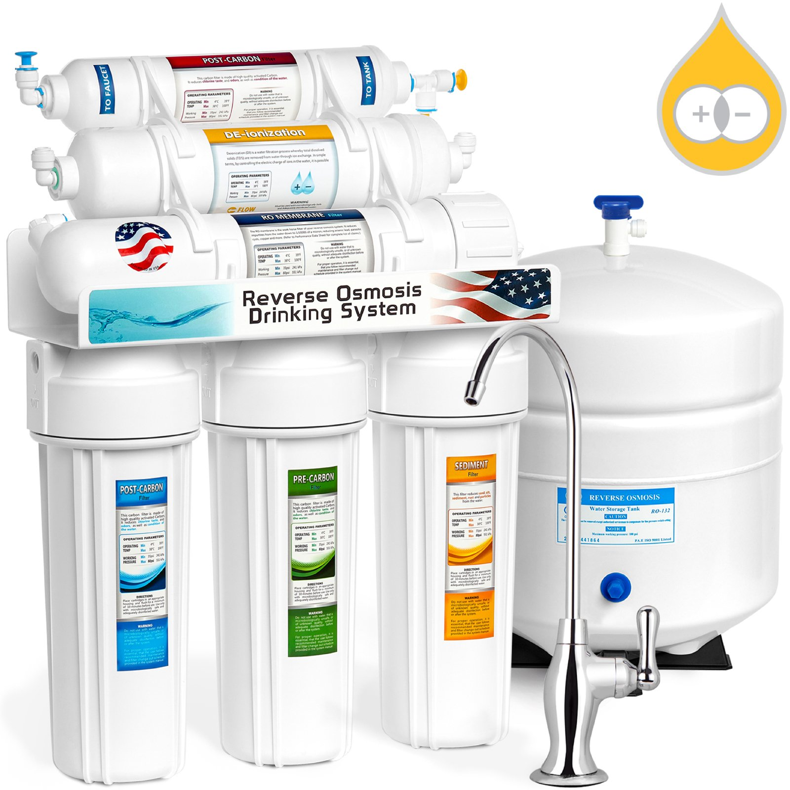 Best Rated In Water Filtration Softeners Helpful Customer Diy Softener System Express Deionization Reverse Osmosis 6 Stage Ro Di Filter With