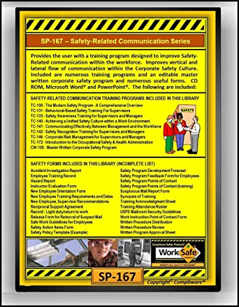 SP 167 WORKPLACE SAFETY COMMUNICATION SERIES