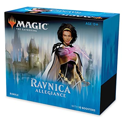 Magic: The Gathering Ravnica Allegiance Bundle | 10 Booster Packs + Land Cards (230 Cards) | Accessories: Toys & Games