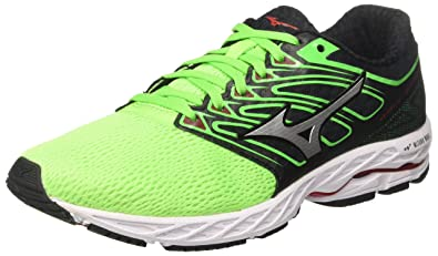 Mizuno Wave Shadow, Chaussures de Running Homme, Multicolore (Greenslime/White/Formulaone 01), 41 EU