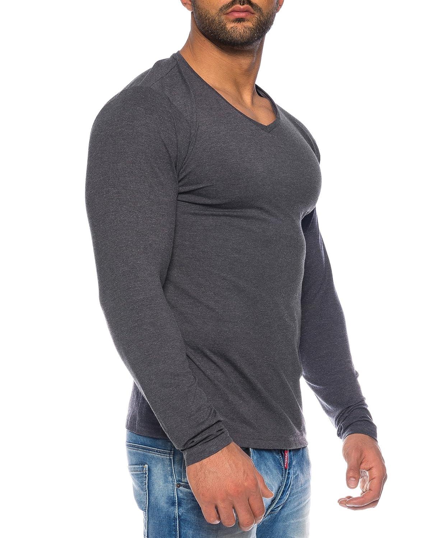 Benk Herren V-Neck Pullover Feinstrick Sweater Longsleeve Langarm Shirt  Cardigan  Amazon.de  Bekleidung f3ebcefa70