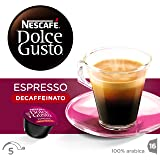 NESCAFÉ Dolce Gusto Espresso Decaf Coffee, Pack of 3 (Total 48 Capsules, 48 servings)