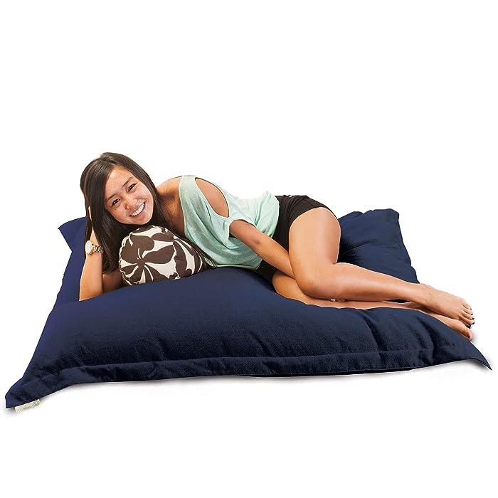 Majestic Home Goods Villa Floor Pillow, Navy