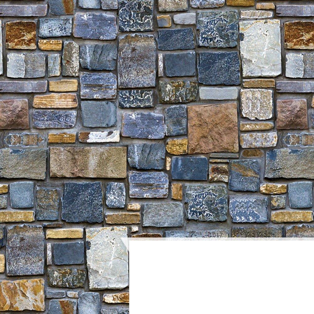 AIWQTO 3d wallpaper stick and peel tile glued waterproof decorative bedroom kids room-A 45x1000cm(18x394inch)