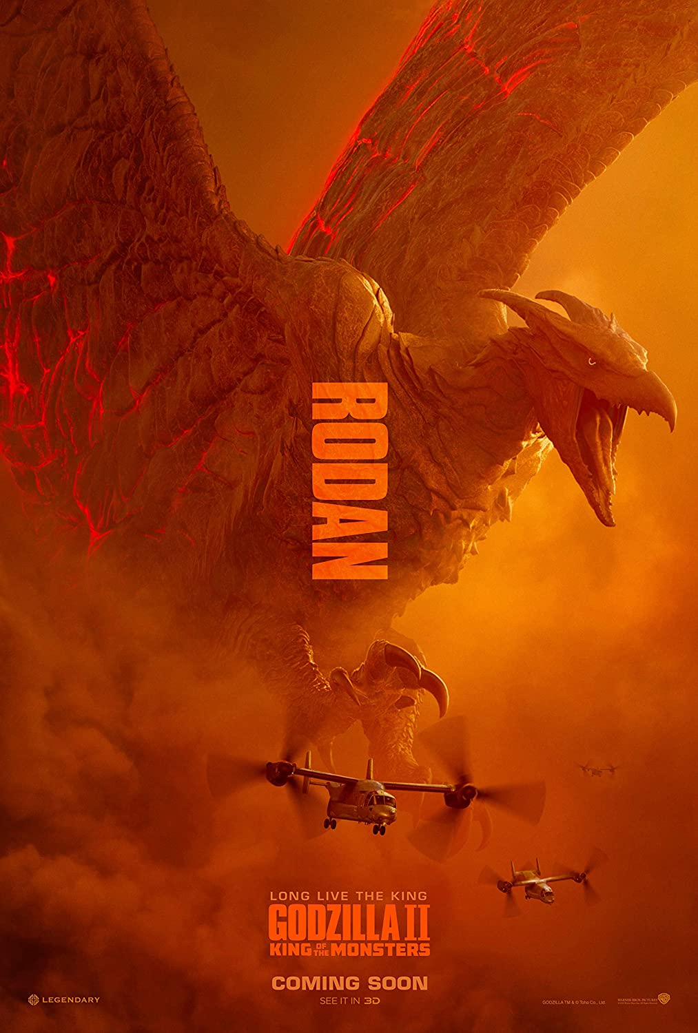 newhorizon Godzilla King of The Monsters Movie Poster 17'' x 25'' NOT A DVD