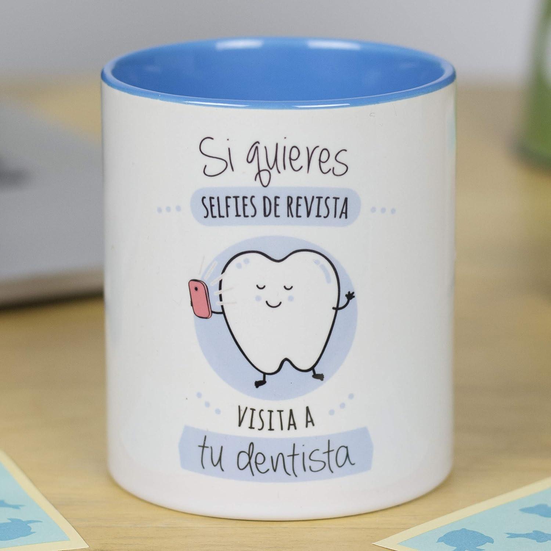 La Mente es Maravillosa - Taza frase y dibujo divertido (Si quieres selfies de revista, visita a tu dentista) Regalo DENTISTA