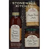 Amazon Com Stonewall Kitchen Maple Bacon Onion Jam 11 75 Oz Pack Of 2 Grocery Gourmet Food