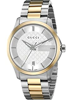 Gucci Swiss Quartz Stainless Steel Dress Two Tone Mens Watch(Model: YA126450)