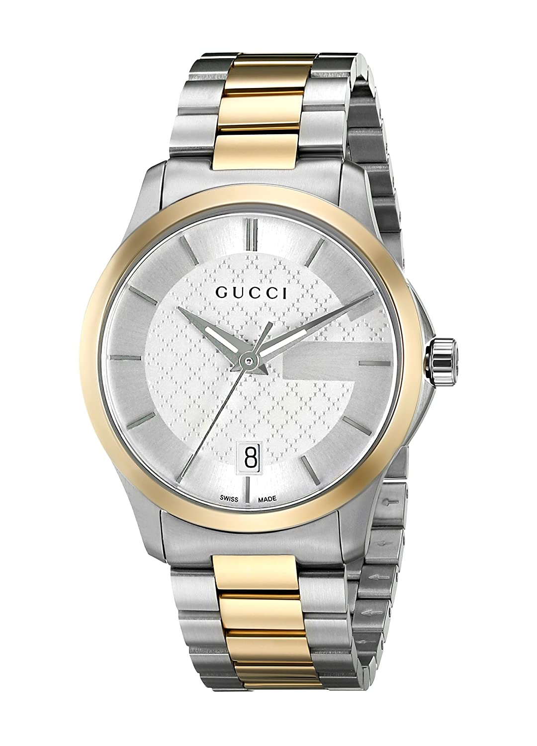 7bc86078aba Amazon.com  Gucci Swiss Quartz Stainless Steel Dress Two Tone Men s Watch(Model   YA126450)  Gucci  Watches