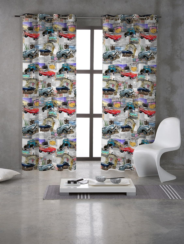 Pop Art Nautical - Funda de algodón suave tejido hecho a medida, cortinas cojines, cortinas, tapicería, fundas de edredón tela Material 143 cm de ancho - se ...