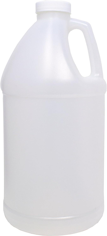 4Spray 1/2 Gallon Jug, 64 oz USP Empty Plastic Bottle - Bpa Free, Natural Color HDPE with 38mm Cap (1)