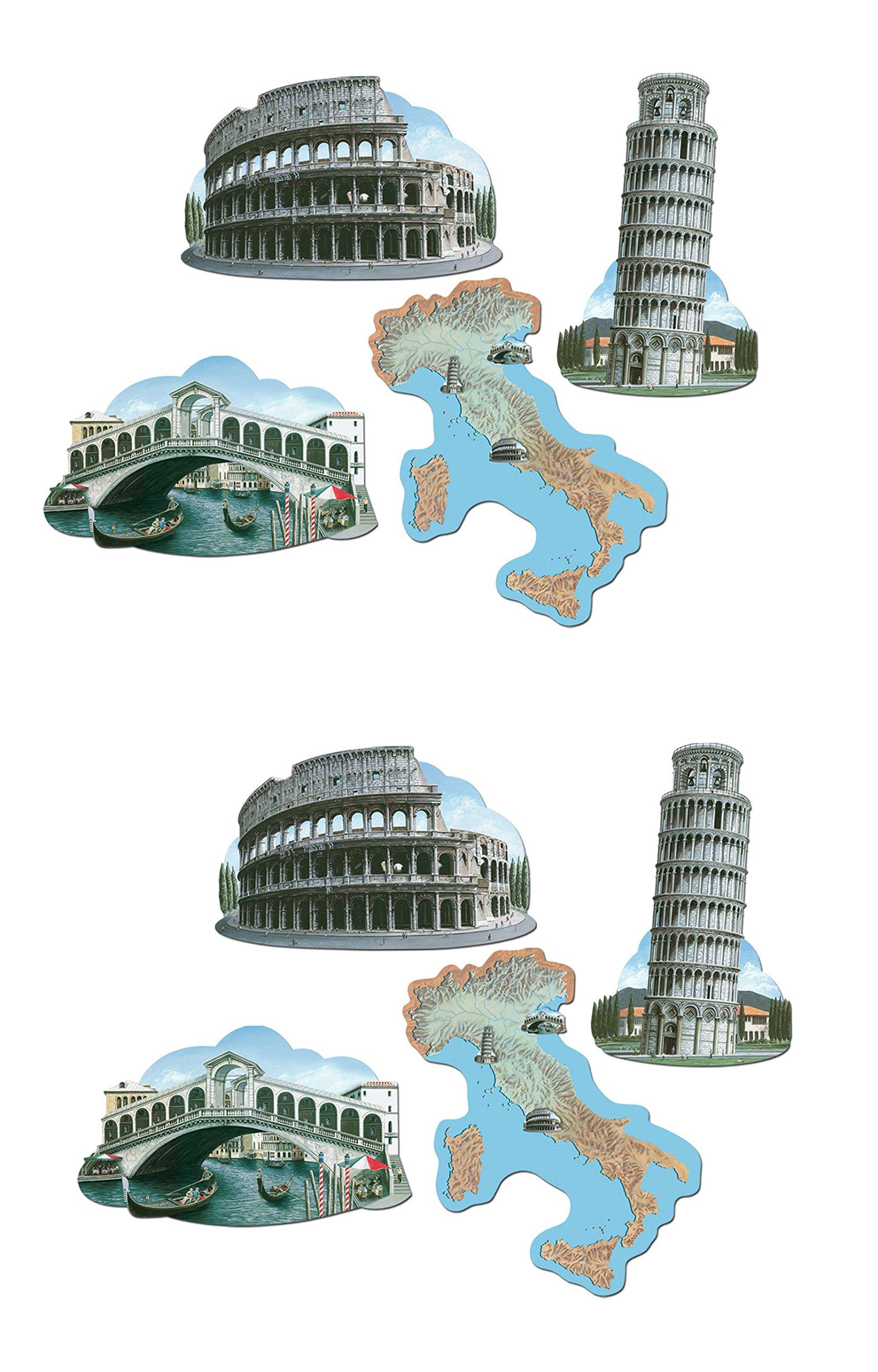 Beistle S55003AZ2, 8 Piece Italian Cutouts, 16.75'' - 17.25'' by Beistle