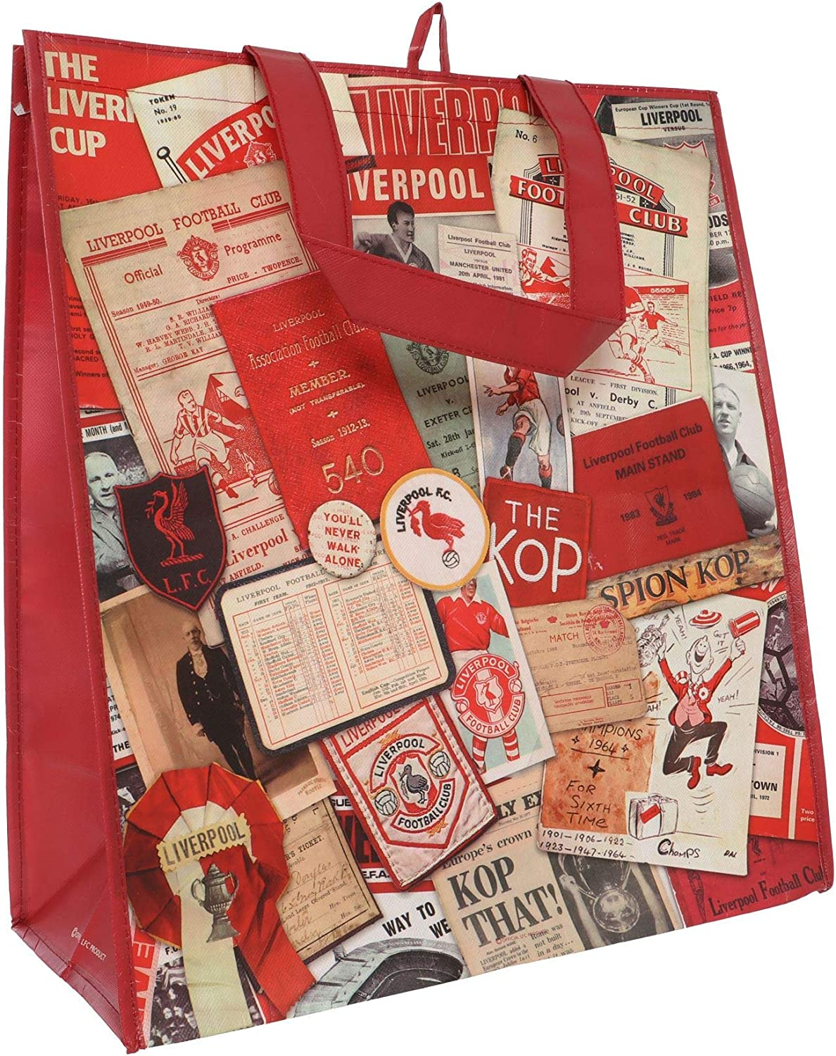 Liverpool FC Red Soccer Vintage Shopper Bag AW 18//19 LFC Official