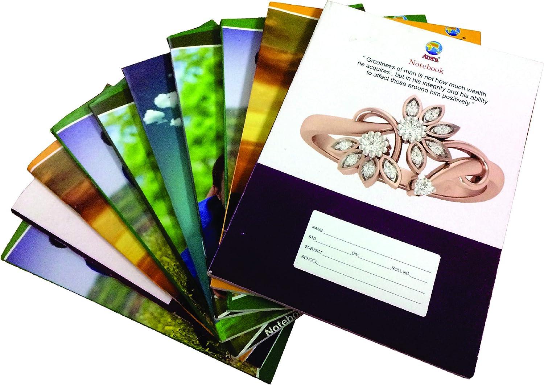 Arora Trainiert Notebook, 160 Seiten, (18 x 24) cm, Single liniert (Set von 100 PCS)