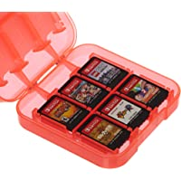 AmazonBasics Game Storage Case for Nintendo Switch - Red