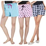 NITE FLITE Cotton Sleep Shorts - Pack of 3