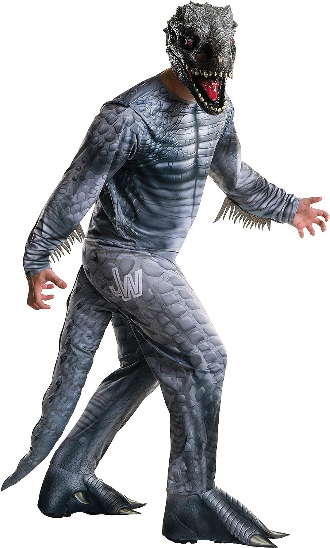 Rubies Disfraz oficial de dinosaurio Jurassic World Fallen Kingdom Velociraptor, disfraz de dinosaurio para adultos