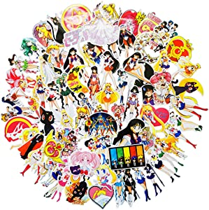 Sailor Moon Anime Girl Stickers 75pcs Snowboard Laptop Luggage Car Motorcycle Bicycle Fridge DIY Styling Vinyl Home Décor (Sailor Moon75)