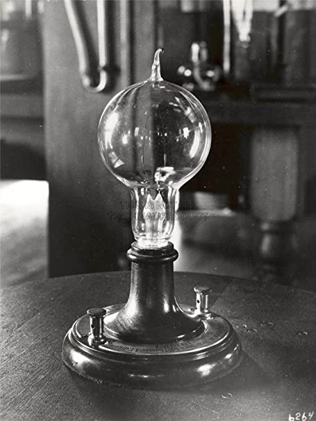 VINTAGE PHOTO EARLY LIGHT BULB THOMAS EDISON SCIENCE TECHNOLOGY POSTER LV11322