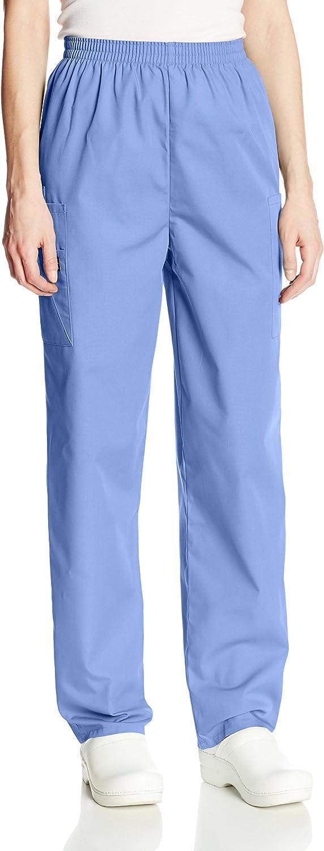 Cherokee Workwear 4200 Scrub Pants Women Cargo Pocket Elastic Waist Uniform