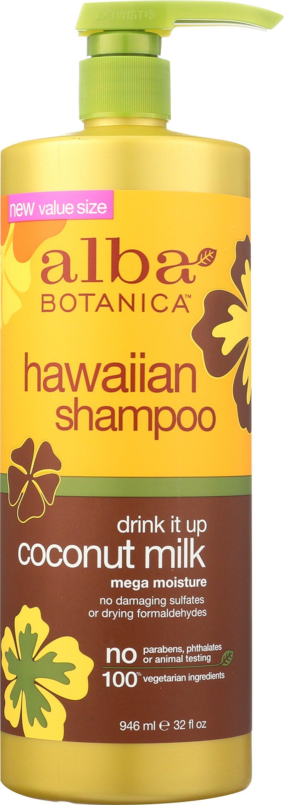 Alba Botanica Hawaiian Shampoo, Coconut Milk, 32 Ounce