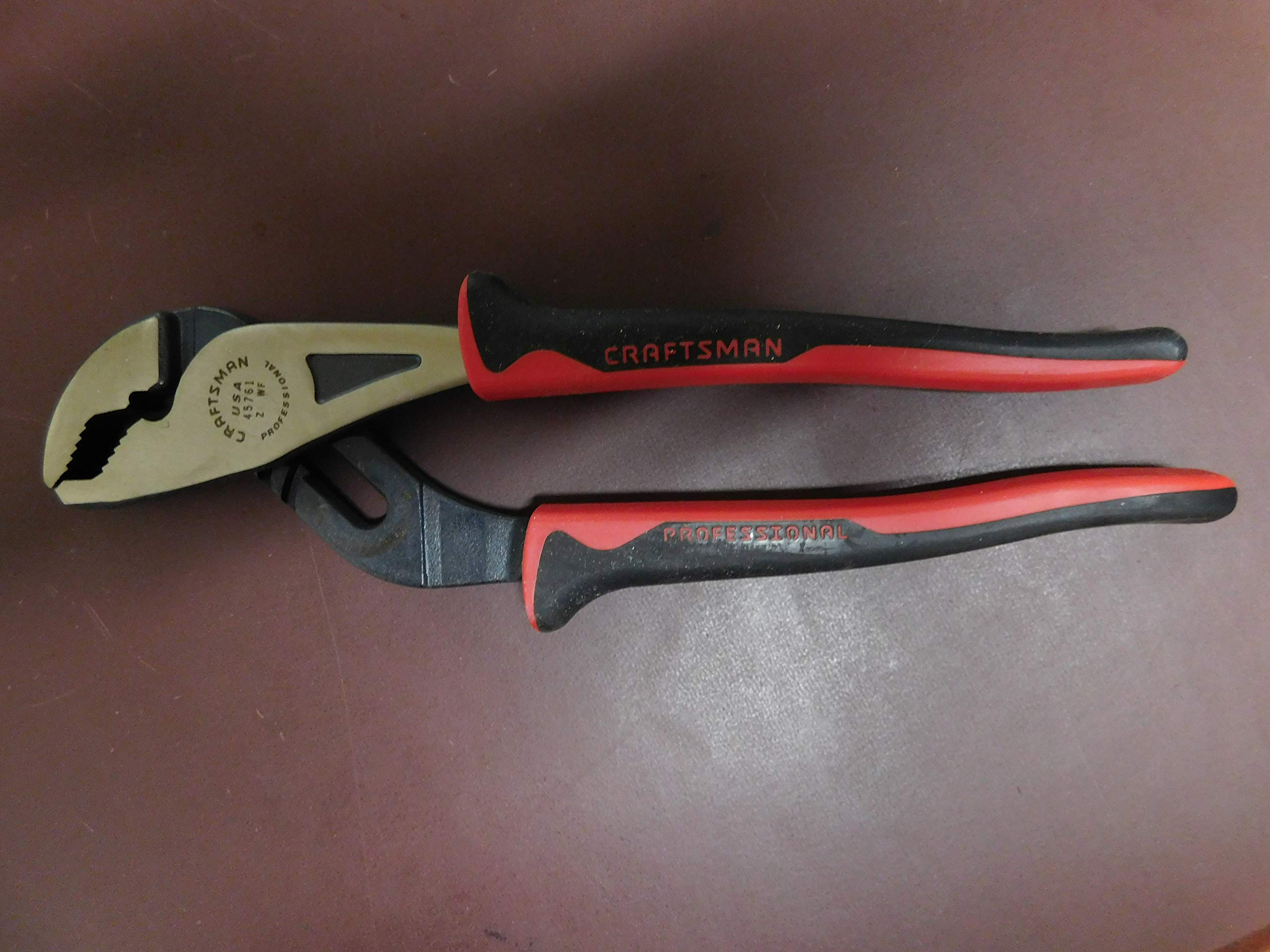 Craftsman Professional 9 1/2'' Arc Joint Pliers with Cushion Grip, Vintage, Made in USA