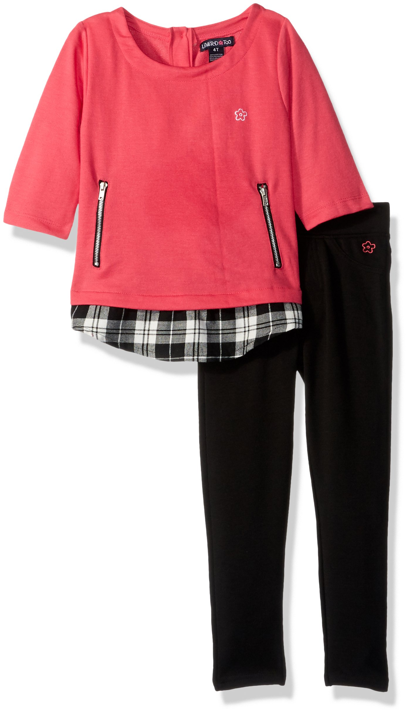 Limited Too Toddler Girls' Fashion Top and Pant Set (More Styles Available), Honeysuckle, 2T