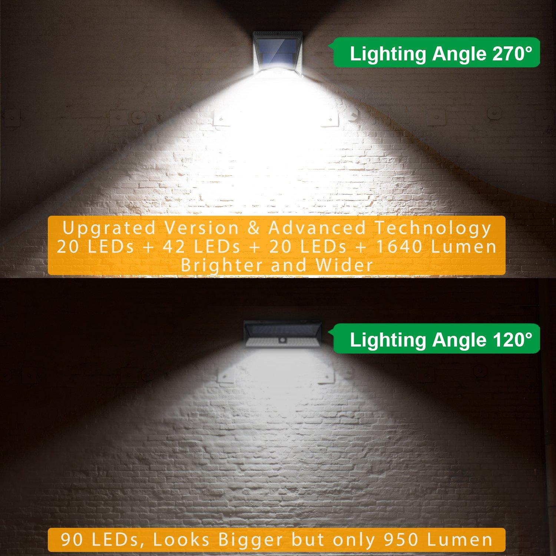 82 Leds Solar Motion Sensor Lights Outdoor, Zookki Super Bright